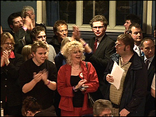 Labour party celebrations in Oxford