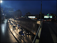 File picture of traffic chaos in Johannesburg - taken by  a photographer at The Star newspaper