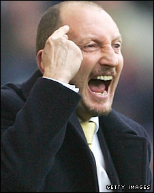 Ian Holloway shouts from the sidelines