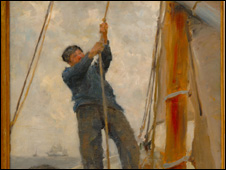 Hoisting the Mainsail 1890 �Collection of Sir Elton John
