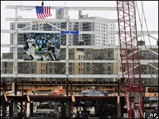 Construction of the new Yankee Stadium in New York
