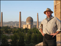 Dan Cruickshank and the remains of the 15th Musalla Complex in Herat