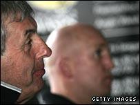 Wasps director of rugby Ian McGeechan and head coach Shaun Edwards.