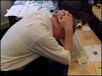 Image showing stressed worker
