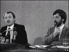 Ken Livingstone meets Gerry Adams in 1983