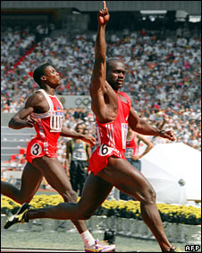 Carl Lewis and Ben Johnson