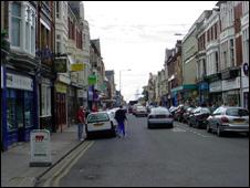 Newport shopping street