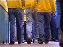Prisoners walking