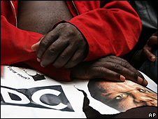 Morgan Tsvangirai supporter