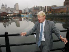 Boris Johnson in Liverpool