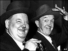 Laurel and Hardy in 1952