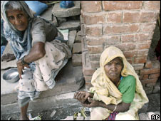 Beggars in India. File pic