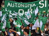 Marcha a favor de la autonomía