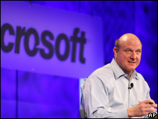 Microsoft's CEO Steve Ballmer (file photo)