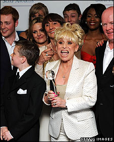 EastEnders cast, led by Barbara Windsor (front)