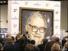 A portrait of Warren Buffett