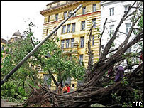 Разрушения в Рангуне