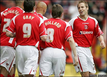Charlton celebrate their opener