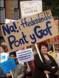 Gwynedd school protest