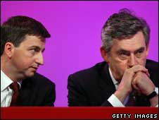 Douglas Alexander and Gordon Brown