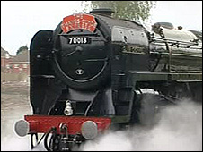 Oliver Cromwell in steam