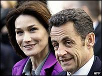 Nicolas Sarkozy y Carla Bruni-Sarkozy