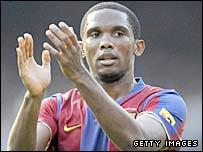 Barcelona striker, Samuel Eto'o