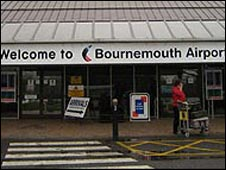 Entrance to Bournemouth Airport