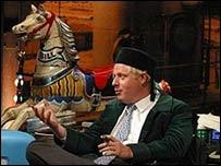 Борис Джонсон в одной из телепередач