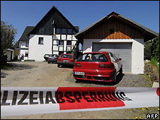 The house in Wenden, Germany, where the three babies were found - 5/5/2008