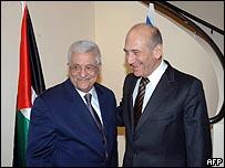 صورة آخر لقاء بين أولمرت وعباس في القدس