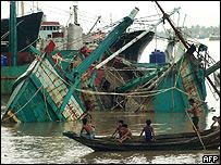 Estragos provocados por el ciclón