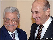 Abbas and Olmert meet on 5 May 2008