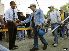 Barack Obama in Evansville, Indiana 5/5/2008