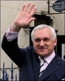 Bertie Ahern resigned last month as Taoiseach