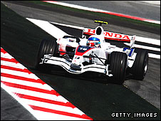 A Super Aguri F1 car at the Spanish Grand Prix