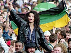 Nelson Mandela concert at Wembley in 1990