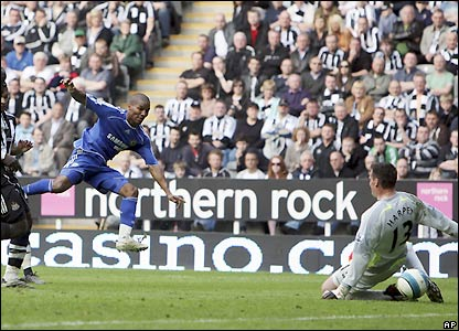 Malouda beats Steve Harper in the 82nd minute to make it 2-0