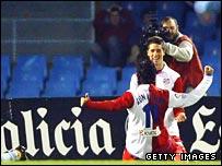Sergio Aguero and Fernando Torres