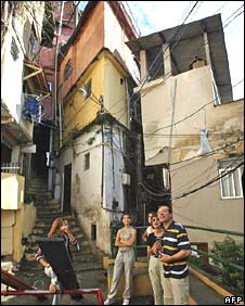 A French family on a tour of a Brazilian shanty town in 2007