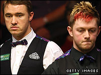 Stephen Hendry and Mark Allen