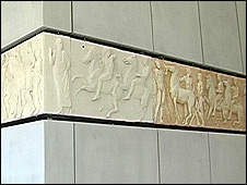 Parthenon frieze as it will be displayed in the new museum