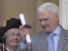 Sir Bobby Robson was given the freedom of Ipswich