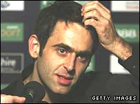 Ronnie O'Sullivan speaks to the media after beating Ali Carter