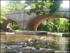 St Asaph's bridge over the River Elwy