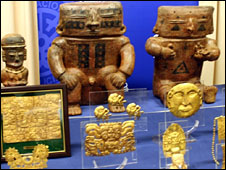Some of the seized artefacts, picture courtesy of Spanish police, 6 May 2008