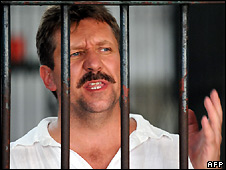 Viktor Bout in a Bangkok criminal court detention centre - 9/4/2008
