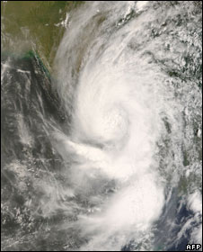 Nasa satellite image of the cyclone