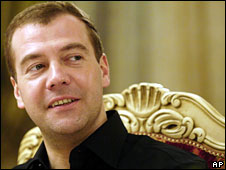 Dmitry Medvedev, file photo from 6 March, 2008