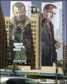 Adverts for GTA IV, AP